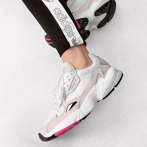 NWT Womens ADIDAS FALCON W White Sneakers.